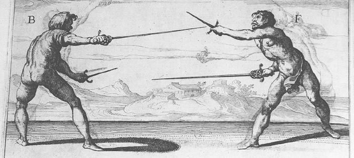 Rapier z lewakiem - Ridolfo Capo Ferro