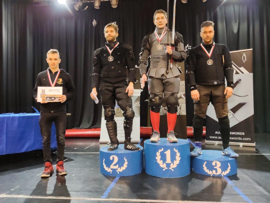 Mistrzostwa Polski DESW 2019 - medaliści długiego miecza Open